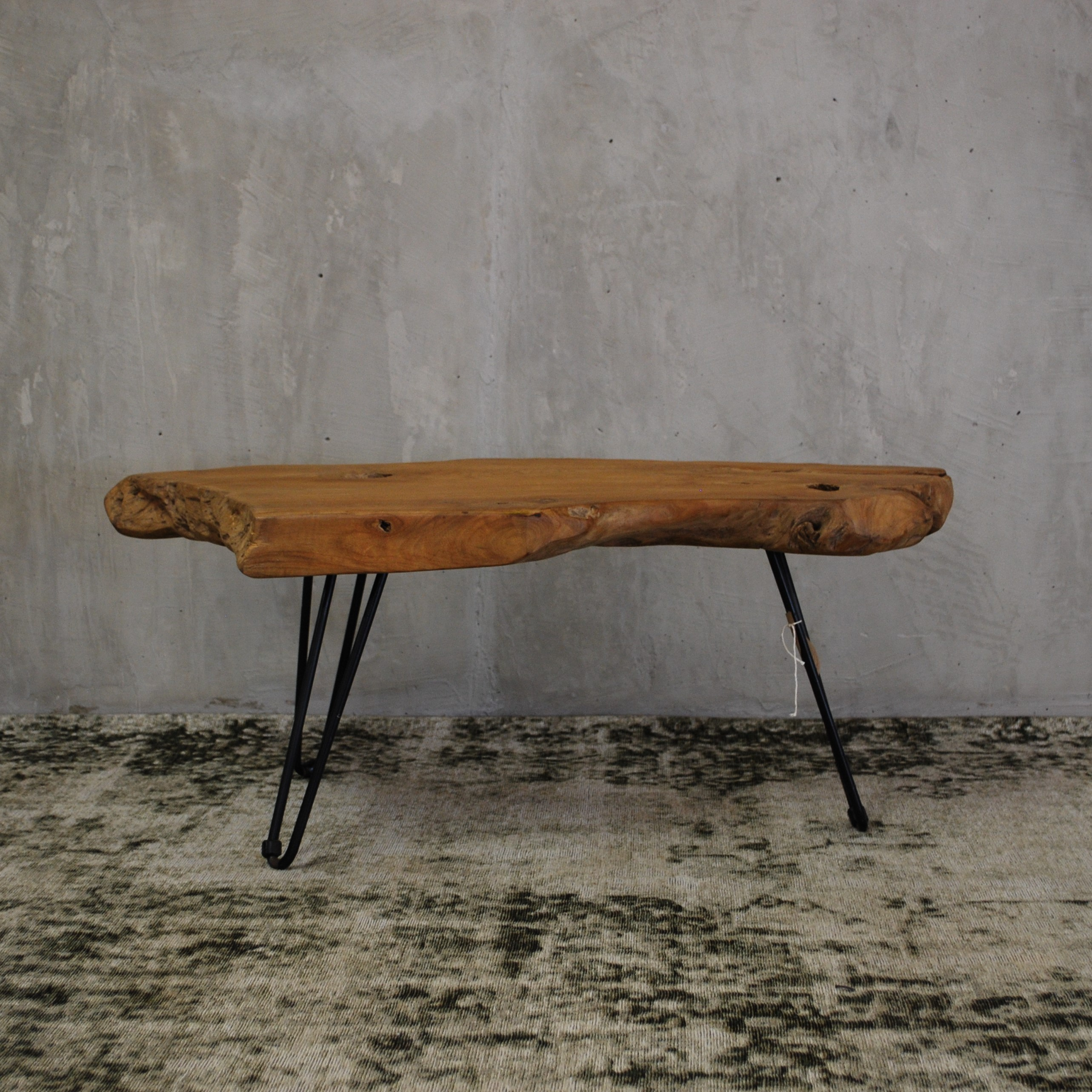 Furniture Quality Wooden Furniture Iron Coffee Table In Teak